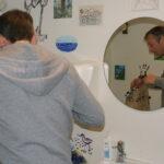 Nyt maleri fra Finleif Mortensen til wc-væggen